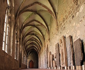 Walkenried Abbey - Cloister with tombstones