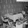 Zone-schaaktoernooi te Berg en Dal , lege tafel van Trifunovic en Ivkov, Bestanddeelnr 911-8015.jpg