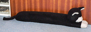 Draught excluder - A draught excluder in the shape of a cat
