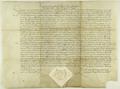 Zygmunt I Stary król polski potwierdza przywilej wydany prze siebie w 1528.X.9 w czasie sejmu piotrkowskiego, a dotyczący wolności celnej mieszczan poznańskich..png