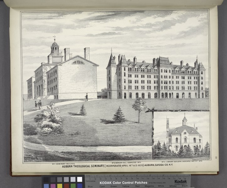 "File:""No.1 Seminary Building. No. 3 Morgan Hall Completed 1875. No.2 Library Building Dedicated May 8th 1872. Auburn Theologigal Seminary, (Incorporated April 14th A.D. 1820) Auburn, Cayuga Co. NYPL1583067.tiff"