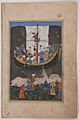 """Yusuf Arriving in Egypt and Leaving the Ship in the Nile"", Folio of a Yusuf and Zulaykha of Jami MET sf13-228-5-f57-r.jpg"