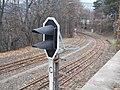 'Adonis utca' Cog-wheel Railway stop, vertical light signal, 2018 Istenhegy.jpg