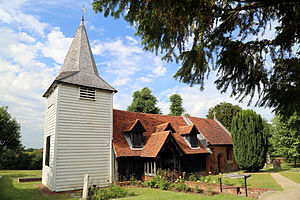 Greensted Church - St Andrew's Church from the south-west