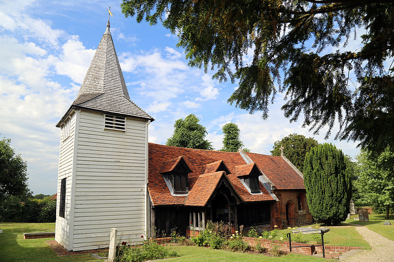 File:'Church of St Andrew' Greensted, Ongar, Essex England - from the south-west.JPG