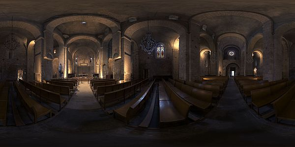 360 panorama of Eglise Sainte-Marie de Quarante