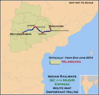 (Secunderabad - Manuguru) Express Route map.png