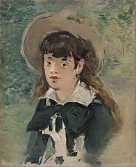 Young Girl on a Bench (Fillette sur un banc)