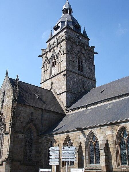 The church of Villedieu-les-Poêles in Manche, Normandy, France.