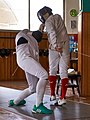 Épée fencing at Athenaikos Fencing Club.jpg