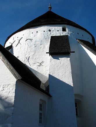 Round church - Østerlars Round Church, Bornholm, Denmark