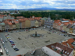 Přemysl Otakar II Square in České Budějovice