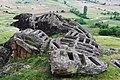 Камени гробници на необичните карпи на Маркови Кули.JPG