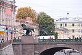 Мост Аничков с четырьмя скульптурными конными группами (через р. Фонтанку, по Невскому проспект).JPG