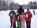Победители семейных стартов на лыжах.JPG
