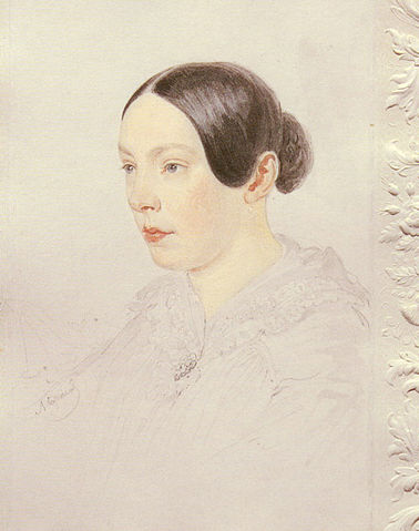 Аделаида Александровна Сенковская. Акварель, А.П.Брюллов, нач. 1840-х гг.