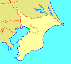 Location of Mihama in Chiba