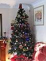 -2019-12-25 Christmas tree on Christmas Day, Sheringham.JPG