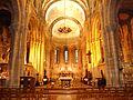 007 Angoulême Eglise Saint-Martial (néoroman XIXème) choeur et intérieur.JPG