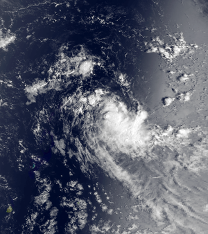 1983–84 South-West Indian Ocean cyclone season - Satellite image of the unofficial tropical storm in November