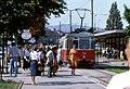 091L07220882 Haltestelle Schottenring, Endstelle Strassenbahn Linie 331, Typ F 744 22.08.1982.jpg