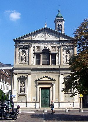 San Barnaba (Milan) - Façade of the church.