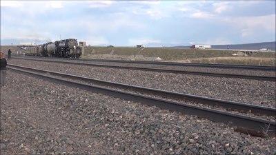 File:1-2 Dampflok Big Boy 4014 und 844 USA 4. Mai 2019 Steam Cheyenne-Rawlins the race to Ogden.webm