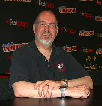 Timothy Zahn authored the Thrawn trilogy, which was widely credited with revitalizing the dormant Star Wars franchise. 10.12.12TimothyZahnByLuigiNovi3.jpg