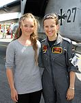 120319-F-NQ744-002 Nicola Baumann, 2nd female fighter pilot of Luftwaffe (GAF) poses with her ECR Tornado during air show.jpg