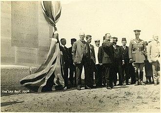 Battle of Chunuk Bair - 12 May 1925 - Unveiling of Chunuk Bair Memorial