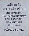 13-14 Március 15. Square, plaque, 2020 Pápa.jpg
