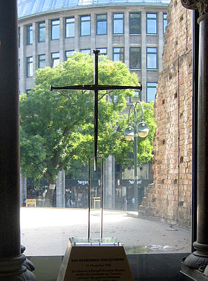 Kaiser Wilhelm Memorial Church - Cross of nails from Coventry Cathedral