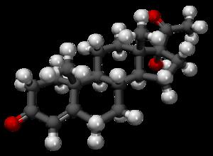 17α-Hydroxyprogesterone - Image: 17 Hidroxiprogesterona 3D