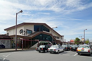 railway station in Gotemba, Shizuoka prefecture, Japan
