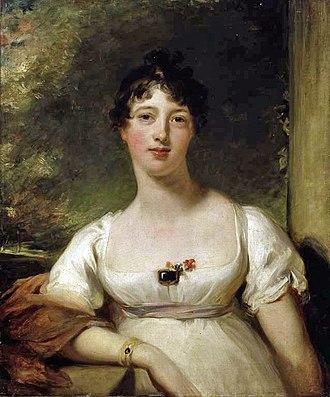 John Loftus, 2nd Marquess of Ely - Anna Maria Dashwood  by Sir Thomas Lawrence, c. 1805