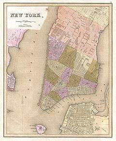 1839 Bradford Map of New York City, New York - Geographicus - NewYorkCity-bradford-1839