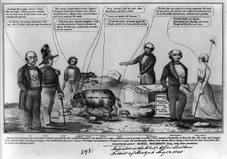 Free Soil Party - 1848 cartoon for Van Buren