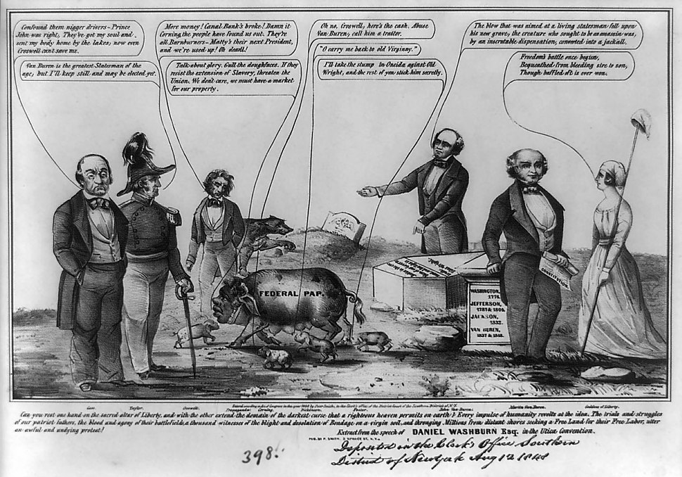 1848 United States Free Soil van Buren cartoon