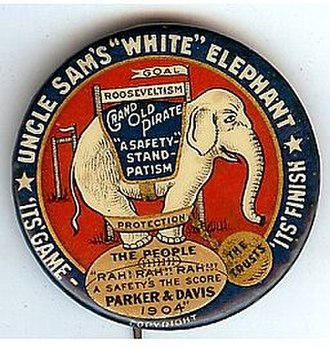 United States presidential election, 1904 - Parker campaign button