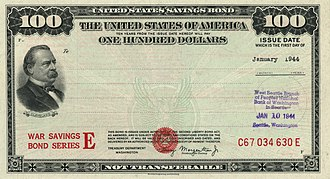 United States Savings Bonds - 1944 $100 War Savings Bond Series E