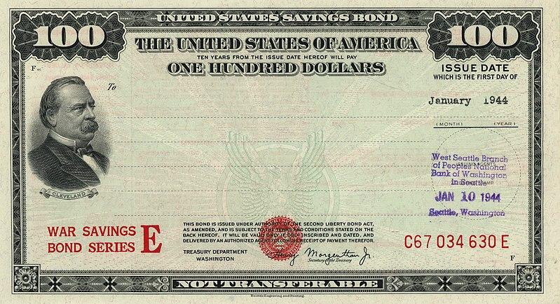 File:1944 $100 War Savings Bond Series E .jpg
