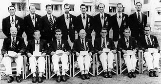 David Anderson (rower) - Anderson (back row 2nd from left) in the 1952 Olympic rowing squad