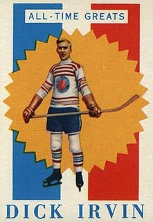 Dick Irvin Canadian ice hockey player