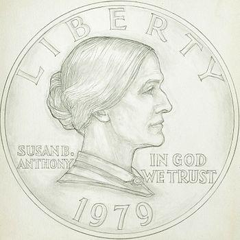 Susan B. Anthony dollar design