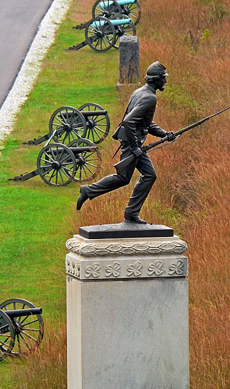 Gettysburg National Military Park - 1st Minnesota Monument, Cemetery Ridge.