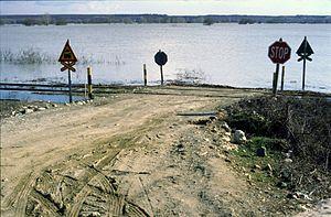 Maritsa - March-2005 Maritsa river floods, Greek side, close to Lavara village.