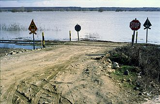 Maritsa - March-2005 Maritsa river floods, Greek side, close to Lavara village.