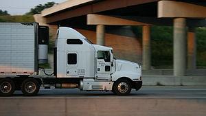 Truck passes