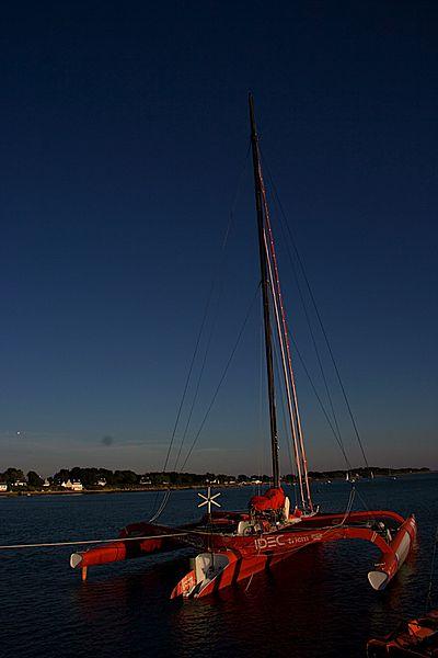 Trimaran sailboat IDEC in La Trinité-sur-Mer.