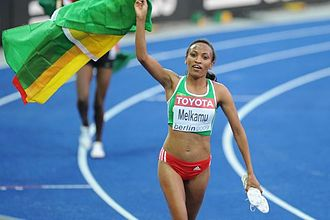 2004 World Junior Championships in Athletics - Meselech Melkamu of Ethiopia was triumphant in the 5000 metres.